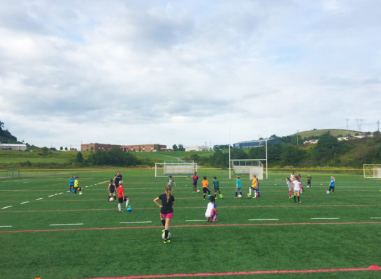 youth soccer practice