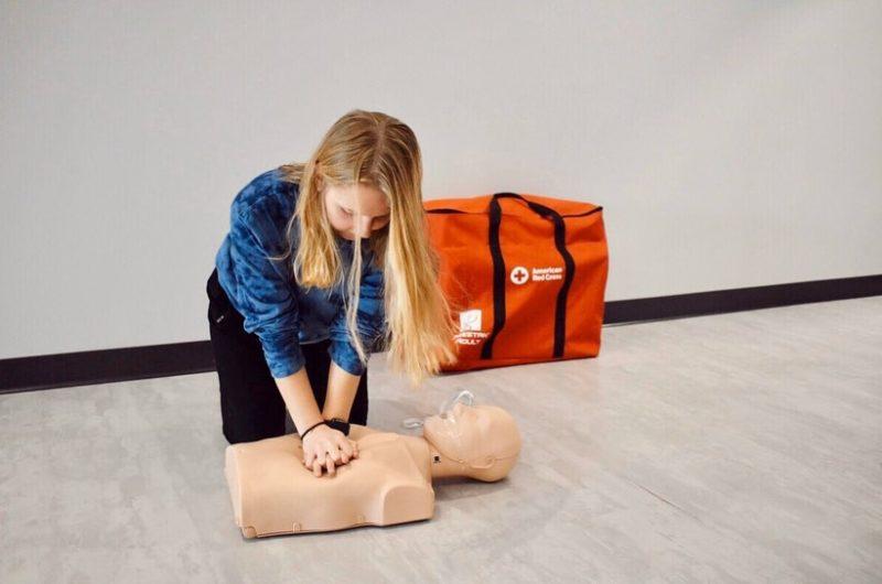 Girl CPR