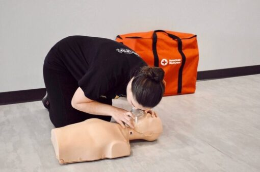 Woman CPR